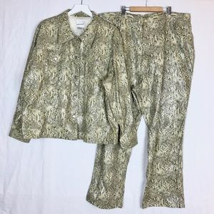 Fashion Bug Faux Snakeskin 2 Piece Set 26/28W